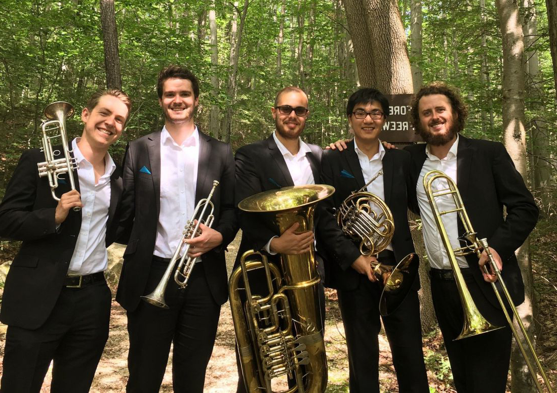 The Maverick Brass Quintet perform selections from Leonard Bernstein: selections from West Side Story (arr. Gale). Supplied.
